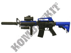 M83 BB Gun | M4 Replica Electric Airsoft Rifle Two Tone Blue | KOMBATKIT SHOP
